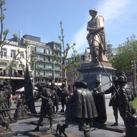 Photo taken at Rembrandtplein by Yuri P. on 7/7/2013