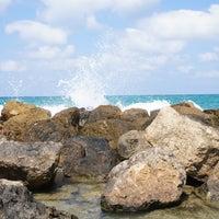 Photo taken at Leonardo Beach by Anna T. on 7/3/2013