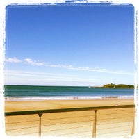 Photo taken at Mooloolaba Beach by Bree S. on 7/23/2013