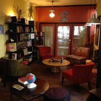 Photo taken at 100th Monkey Cafe & Books by Chris W. on 9/30/2013
