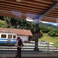 Photo taken at Bahnhof Gstaad by Cris J. on 7/30/2013
