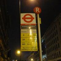Photo taken at Bus Stop R by John G. on 7/25/2013