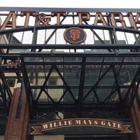 Photo taken at Willie Mays Gate by Anthony L. on 10/3/2016
