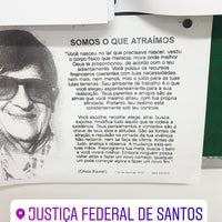 Photo taken at Justiça Federal de Santos by Amanda S. on 3/12/2018
