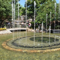 Photo taken at The Grove Water Fountain by Cristina on 7/14/2013