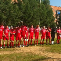 Photo taken at Стадион «Горняк» by Михаил М. on 7/20/2013