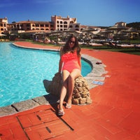 Photo taken at Hotel Cala di Volpe, Costa Smeralda by Georgia T. on 8/4/2015