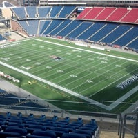 Photo taken at Gillette Stadium by Ryan T. on 1/20/2013