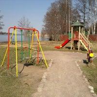 Photo taken at Детская площадка в разливе by Майя К. on 4/21/2014