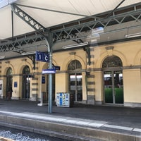 Photo taken at Stazione di Bellinzona by Tuba A. on 10/28/2017