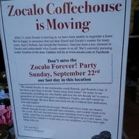 Photo taken at Zocalo Coffeehouse by breena b. on 9/13/2013