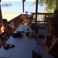 Photo taken at Beach Grill Roatan by Gonzalo B. on 4/14/2014
