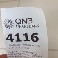 Photo taken at QNB Finansbank by A A. on 3/1/2017