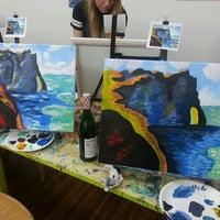 Photo taken at Painting Lounge by Kim P. on 2/15/2014
