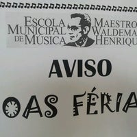 Photo taken at Escola Municipal de Musica Maestro Waldemar Henrique by Kissy F. on 7/25/2013