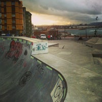 Foto tomada en Skatepark Cimadevilla por María G. el 11/12/2013