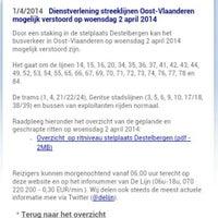 Photo taken at Halte Sint-Amandsberg P+R Oostakker by Burcu K. on 4/1/2014