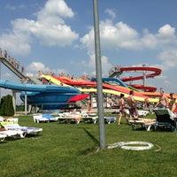 Photo taken at Aquapark Senec by Kristina M. on 6/22/2013