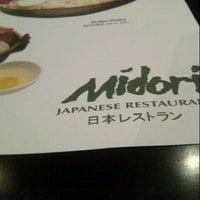 Photo taken at Midori Japanese Restaurant by IdaHasan on 11/24/2012