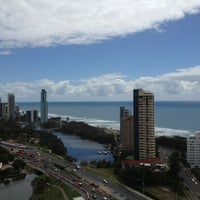 Photo taken at Surfers Paradise Marriott Resort & Spa by Denis on 2/12/2013