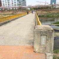 Photo taken at 하안교 by H.G. on 4/4/2014