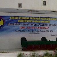 Photo taken at Gedung Kuliah Bersama (GKB) UNIMA by Megumi O. on 2/6/2013