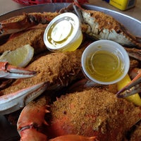 Photo taken at Woody's Crab House by Rob D. on 9/23/2014