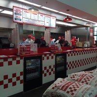 Photo taken at Five Guys by Ibrahim A. on 5/17/2014
