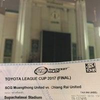 Photo taken at Supachalasai Stadium by Nok on 11/22/2017