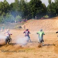 Photo taken at Viesītes Moto Trase by Marks M. on 7/30/2013