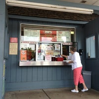 Photo taken at Snoopy's Hot Dogs & More by Lisa P. on 7/3/2013