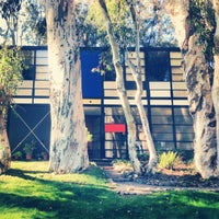 Photo taken at The Eames House (Case Study House #8) by Alice R. on 1/4/2013