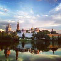 Photo taken at Novodevichy Convent by Olga K. on 7/24/2013