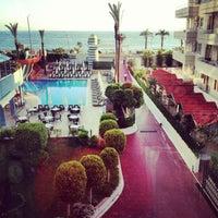 Photo taken at Katya Hotel Swiming Pool by Tatyana V. on 5/2/2014