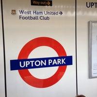 Photo taken at Upton Park London Underground Station by Robert on 8/10/2013