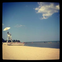 Photo taken at Bradford Beach by ♥ diana maire p. on 7/17/2012