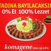 Photo taken at Komagene Çiğ Köfte & Kormel Dondurma by Raşit H. on 6/25/2014