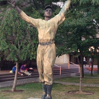 Photo taken at Jackie Robinson Statue by Eric F. on 8/20/2013