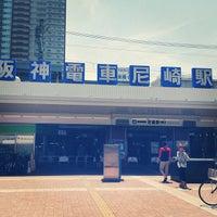 Photo taken at Hanshin Amagasaki Station (HS09) by lagoonphoto p. on 5/12/2013