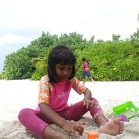Photo taken at feydhoofinolhu beach by Ahmed M. on 10/18/2013