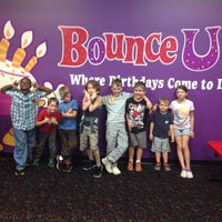 Photo taken at Bounce U by Amy T. on 10/26/2014