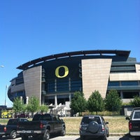 Photo taken at Autzen Stadium by Ashley V. on 7/6/2013