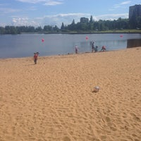 Photo taken at Пляж «Северный» by Анжела И. on 6/28/2014