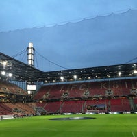 Photo taken at RheinEnergieStadion by Ali S. on 10/11/2013