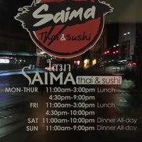Photo taken at Saima Thai & Sushi by aaronpk on 2/2/2018