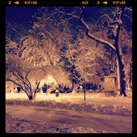 Photo taken at Flagpole Green - Forest Hills Gardens by Spencer V. on 2/3/2014