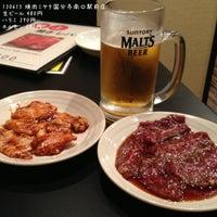Photo taken at 焼肉ミヤタ 国分寺南口駅前店 by Ogu_ogu on 6/15/2013