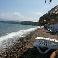 Photo taken at Tarandella Beach by Vagelis P. on 9/1/2013