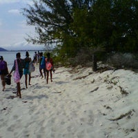Photo taken at Lime Cay by Khadija M. on 3/29/2013