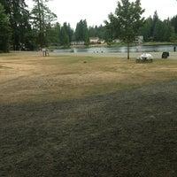 Photo taken at Five Mile Lake Park by Sarah S. on 7/28/2013